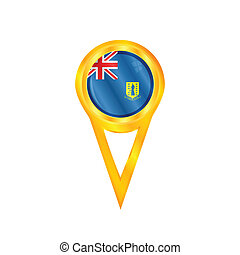 British Virgin Islands pin flag - Gold pin with the national...