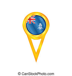 Cayman Islands pin flag - Gold pin with the national flag of...