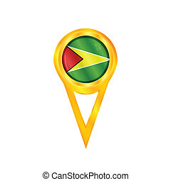 Guyana pin flag