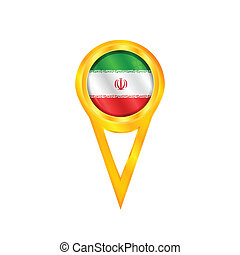 Iran pin flag