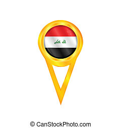 Iraq pin flag