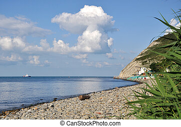 Summer sea landscape - The cloud which has hung over the...