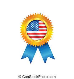 USA medal flag