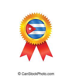 Cuba medal flag