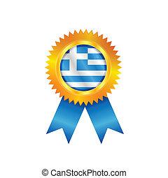 Greece medal flag