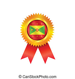 Grenada medal flag - Gold medal with the national flag of...