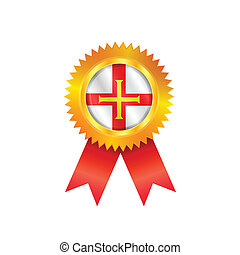 Guernsey medal flag - Gold medal with the national flag of...