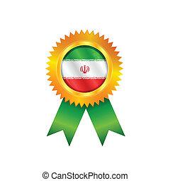 Iran medal flag
