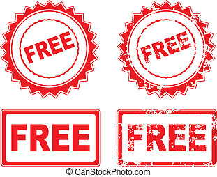 Free rubber stamp vector illustration grunge eps 10