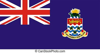 Cayman Islands Flag - 2D illustration of Cayman Islands flag...