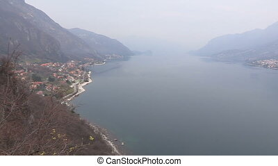View of Como lake and mountains - Panoramic view of Como...