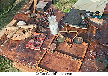 ancient jeweler's work table