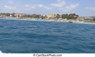 Genova seen from the sea
