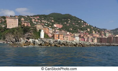 Camogli seen from the sea - Camogli, a small town in Italy,...