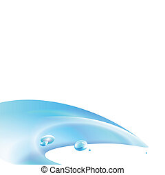 Water Wave Background - An abstract background graphic of a...