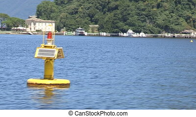 Buoy in the lake - Buoy in Como lake