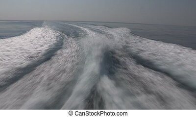 Wash wake of a boat