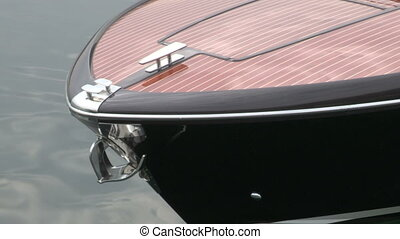 Wooden bow of vintage boat - Wooden bow of vintage luxury...