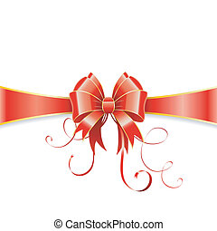 Bow and ribbon - Frame of the Bow and Ribbons on Holiday...