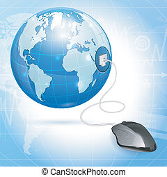 Global Computing Concept - Computer Concept - Mouse...