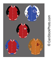 lettermen varsity jackets over gray - varsity jackets in...