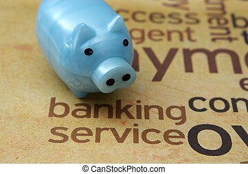 Banking service concept