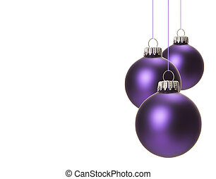 christmas, christmas baubles purple - purple christmas balls...