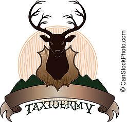 Taxidermy Design - Illustration of a taxidermy design...