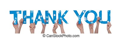Hands Holding Thank You - Many Hands Holding the Words Thank...