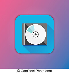 Vector Compact Disk in Case
