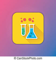Vector Flask and Test Tube