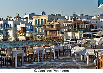 Little Venice at Mykonos Island