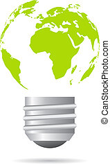 Green energy icon