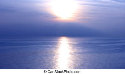 black sea blue sunset - sunset over the sea