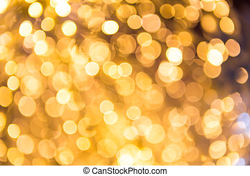 Bokeh defocused gold abstract christmas background