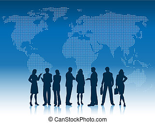 Business people of the world - Silhouettes of business...