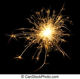 Spark - A spark over black backround