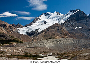 slow melt of a glacier - glacier in the columbia icefields...