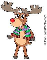 Cute standing Christmas elk