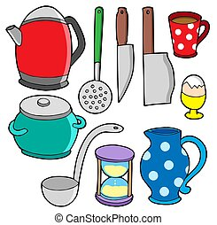 Domestics collection 2 - isolated illustration.