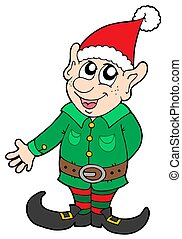 Christmas elf - Cute Christmas elf - isolated illustration