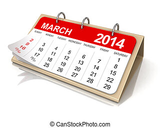 Calendar - March 2014 - Calendar year 2014 image. Image with...