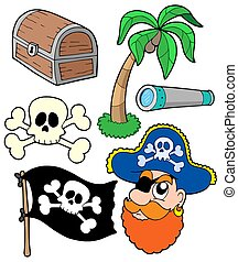 Pirate collection 2 - isolated illustration.