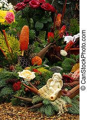 floral arrangement cemetery