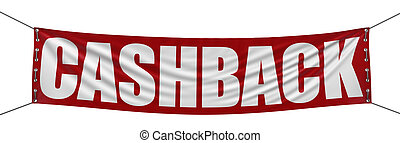 Cashback Banner - Big cashback Banner. Image with clipping...