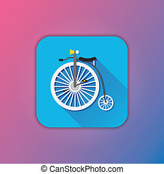 Vector Retro Bicycle Icon