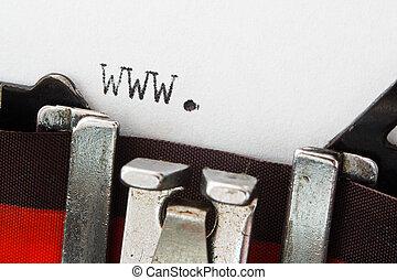 Websajt,  prefix,  retro, skrivmaskin