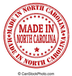 Made in North Carolina stamp - Made in North Carolina grunge...