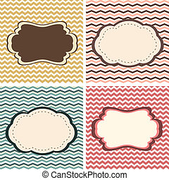 Zig zag frames - A set of seamless retro Zig zag patterns...