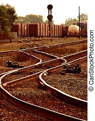 Sunset Railroad Tracks - Sunset or rise over Detroit area...